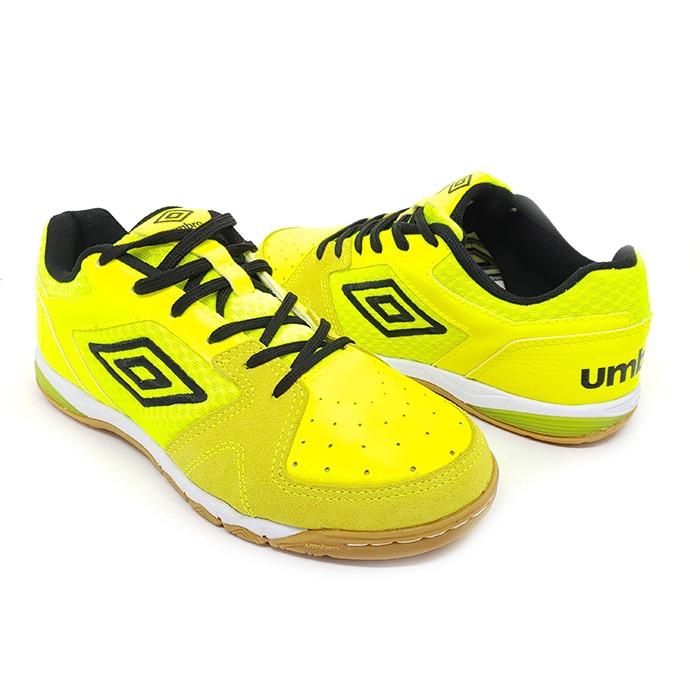 Tênis Futsal Umbro Pró III – Limão Preto Branco – Schvambach Calçados ea99b76888040