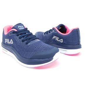 3b537e81c24 ... Tênis Fila Feminino FR Light Energized Marinho Azul Claro Rosa Fluor ...